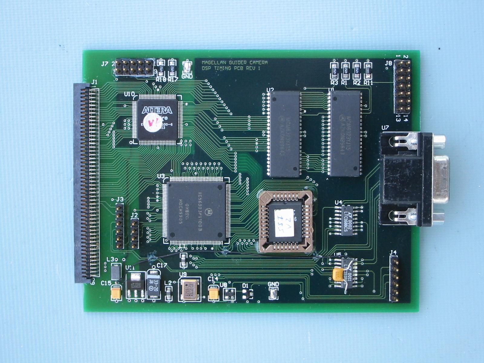 Magellan guider camera DSP description and timing generation